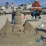 Sand Castle Snowman Is A True Work of Art!