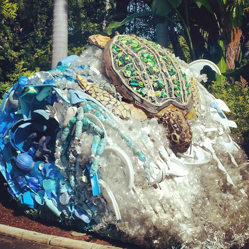 Recycled Art at SeaWorld
