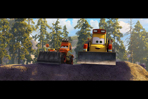Disney's Planes: Fire & Rescue Bulldozers ~ Image Courtesy of Disney Pictures ~ www.socalwithkids.com