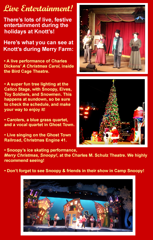 Knott's Merry Farm Entertainment