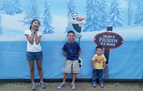 Olaf Picture Backdrop