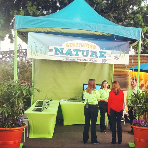 Generation Nature Booth at Wild Days ~ www.socalwithkids.com