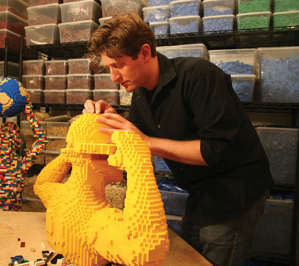Giant LEGO Art Artist, Nathan Sawaya of The Art of the Brick / www.socalwithkids.com