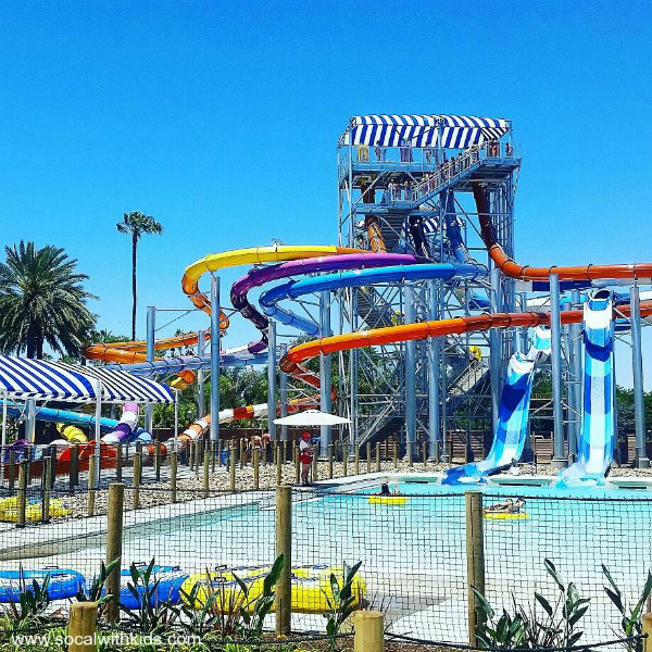 Shore Break Towers at Knott's Soak City Orange County ~ www.socalwithkids.com