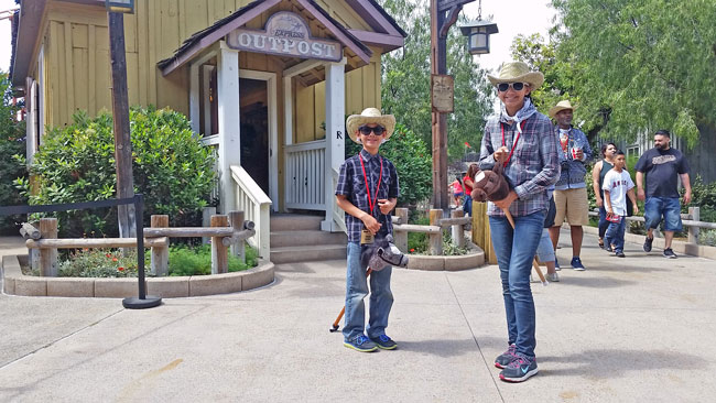 Knott's Ghost Town Alive Stick Horses ~ www.socalwithkids.com