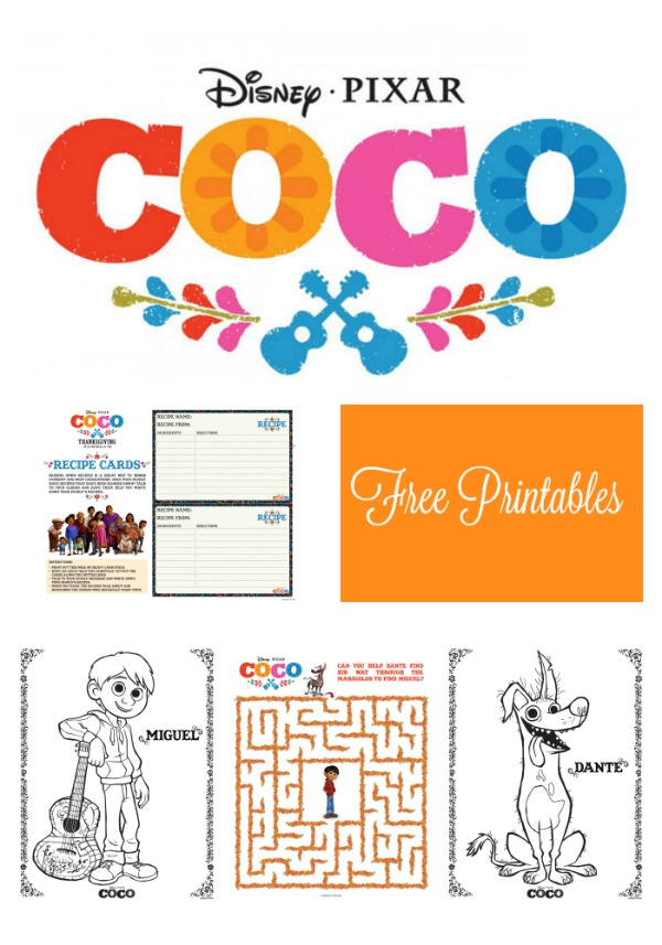 FREE Coco Movie Printables ~ www.socalwithkids.com