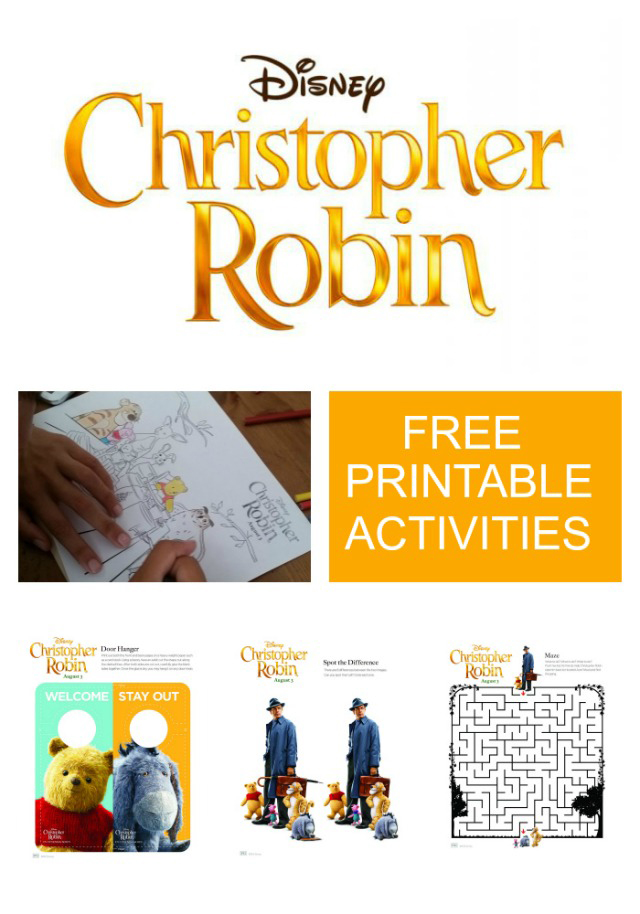 Christopher Robin Printable Activities ~ www.socalwithkids.com