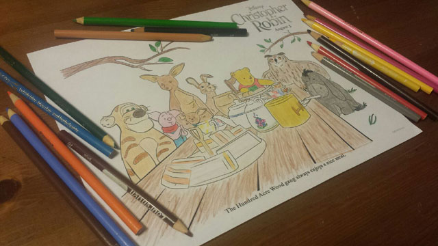 Winnie the Pooh and Gang Coloring Sheet ~ www.socalwithkids.com